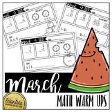 Math Warm Ups March - Differentiated for 2 levels!