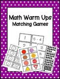 Math Warm Ups: Matching Games (Growing Bundle)