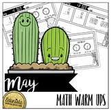 Math Warm Ups May - Differentiated for 2 levels!