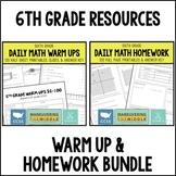 Common Core Math Warm Ups & Homework Bundle {6th Grade}
