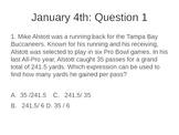 Math Warm Ups: Question of the Day test prep for 6th and 7th grade