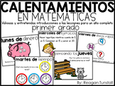 Digital Math Warm-Ups First Grade SPANISH