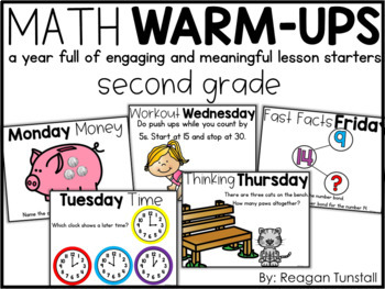 Digital Math Warm-Ups Second Grade
