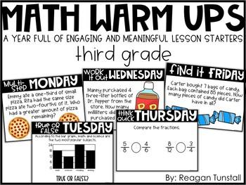 Digital Math Warm-Ups Third Grade