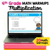 Multiplication Math Talk Warm Ups