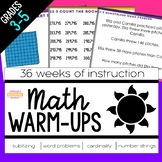 Math Warm-Ups for the Year - Includes Digital Version
