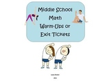 Math Warm-Ups or Exit Tickets Bundle