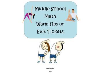 Math Warm-Ups or Exit Tickets Bundle