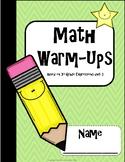 Math Warm-Ups unit 3