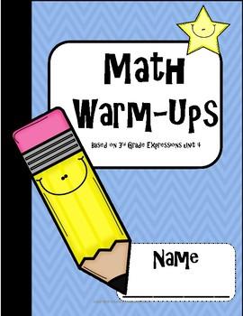 3rd Grade Math Warm-Ups Expressions unit 4