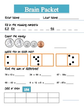 Math Warm-Ups/Morning Work