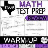 STAAR Math Warm-up 6th Grade | Print & Digital