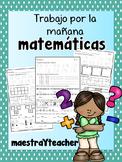 Kinder Math Warm up Spanish/ Practica de Matematicas V2