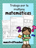 Kinder Math Warm up Spanish/ Practica de Matematicas V2