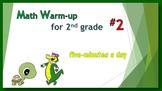 Math Warm-up for 2nd grade #2