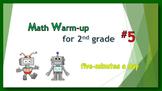 Math Warm-up for 2nd grade #5