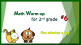 Math Warm-up for 2nd grade #6