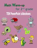 Math Warm-up for 2nd grade BUNDLE