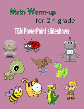 Math Warm-up for 2nd grade BUNDLE