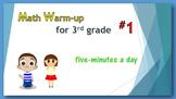 Math Warm-up for 3rd grade #1