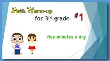 Math Warm-up for 3rd grade #1