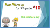 Math Warm-up for 3rd grade #10