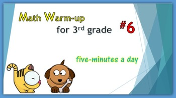 Math Warm-up for 3rd grade #6