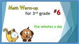 Math Warm-up for 3rd grade #6