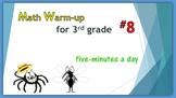 Math Warm-up for 3rd grade #8