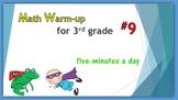 Math Warm-up for 3rd grade #9