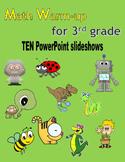 Math Warm-up for 3rd grade BUNDLE