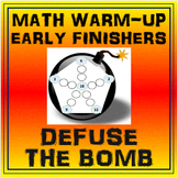 Math Warm-up or Early Finishers Activity - Defuse the Bomb 10 Pack BTSDOWNUNDER
