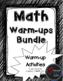Math Warm-ups Bundle