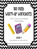 Math Worksheets / Warmups (100 Worksheets!)