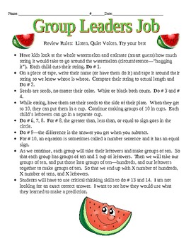 Math Watermelon Data Collection