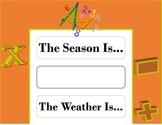 Math Weather Chart! Math Bulletin Board! Math Theme! Numbers Bulletin Board!