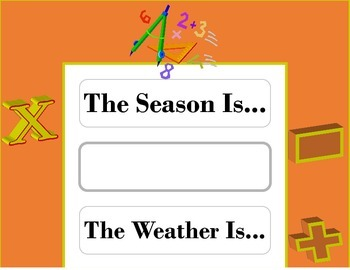 Math Weather Chart! Math Bulletin Board! Math Theme! Numbe