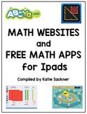 K-2nd & 3rd-5th BUNDLE Math Websites and Free Math Apps List