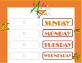 Math Weekday Chart! Math Bulletin Board! Math Theme! Numbers Theme!