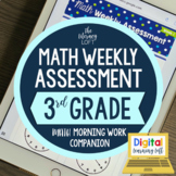 Math Weekly Assessments {3rd Grade} I Distance Learning I
