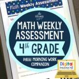 Math Weekly Assessments {4th Grade} I Distance Learning I