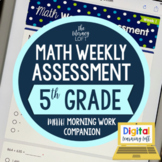 Math Weekly Assessments {5th Grade} I Distance Learning I