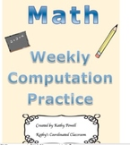 Math Weekly Practice