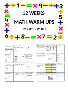 Math Weekly Warm Ups