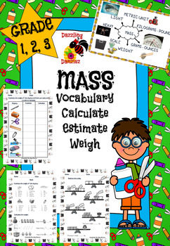 Weight and Mass - 5 Math Worksheets