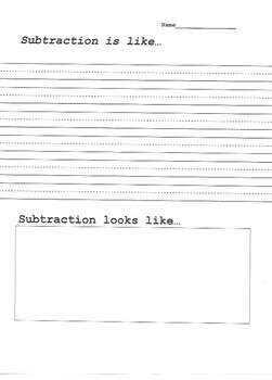 Math- What is Subtraction?