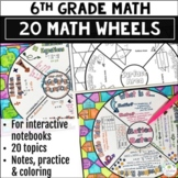 Math Wheel Bundle for Grade 6 - Note-taking Format
