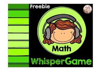 Math Game: Whisper Game