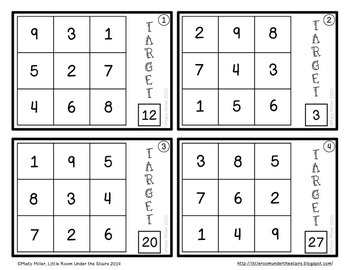 Find the Number with Adding Subtracting Multiplying Dividing Math Task Cards