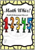 Math Whiz! Math Achievement Award